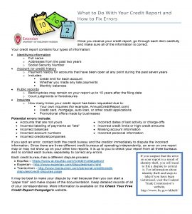 Fixing erros on credit reports guide