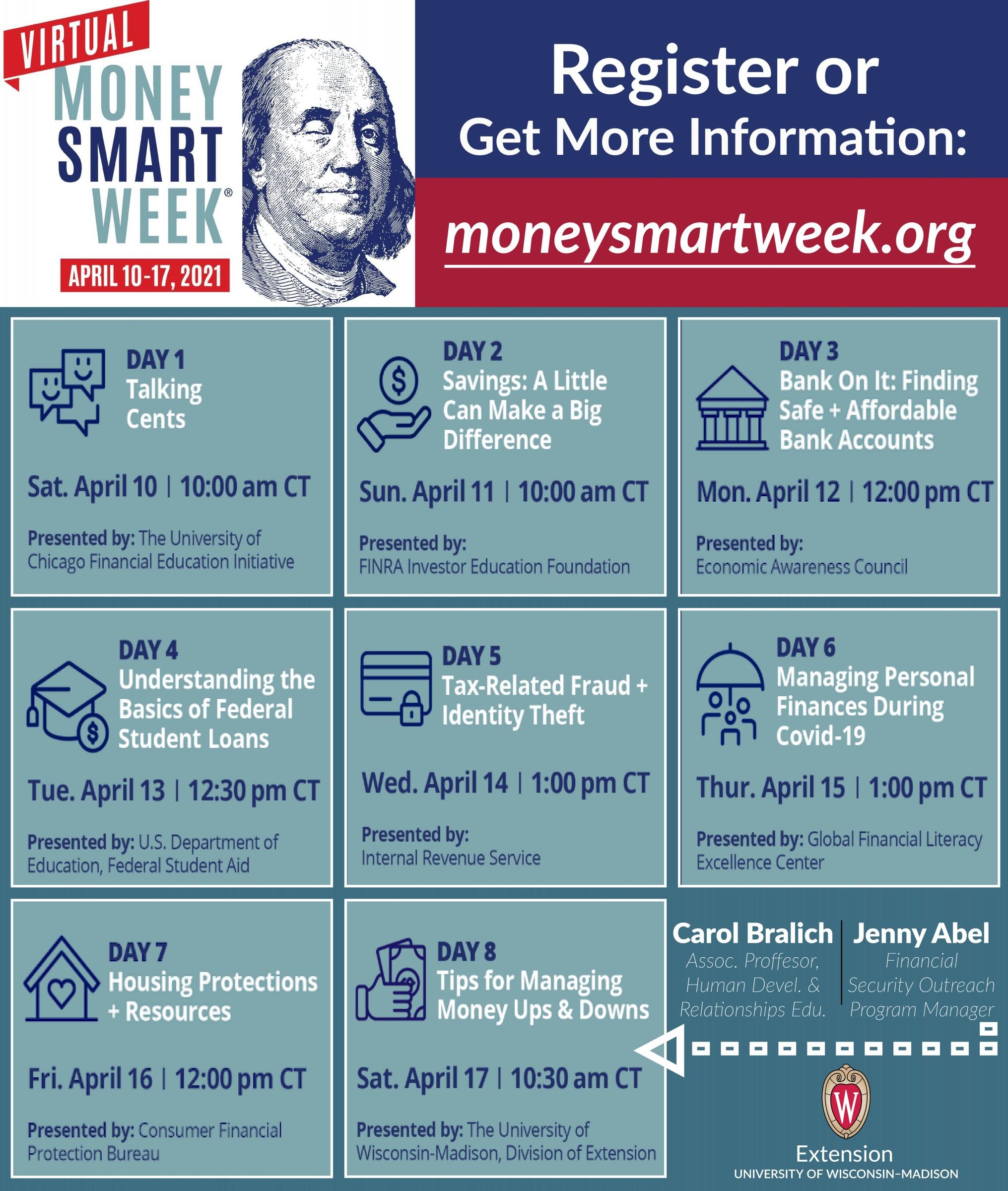 Money Smart Week 2021 poster